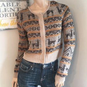 Sun & Shadow half sweater top Shirt Medium Med M